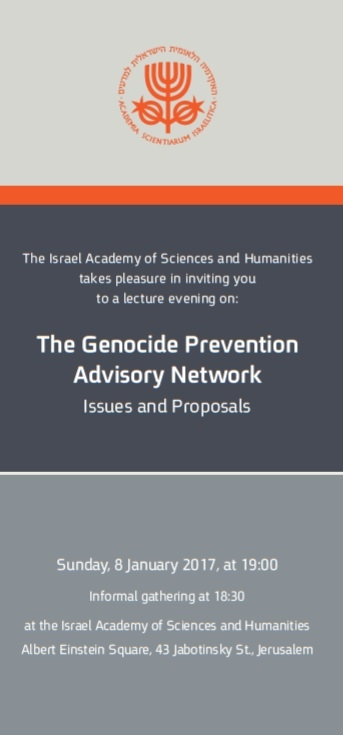 The Genocide Prevention Advisory Network - Issues and Proposals