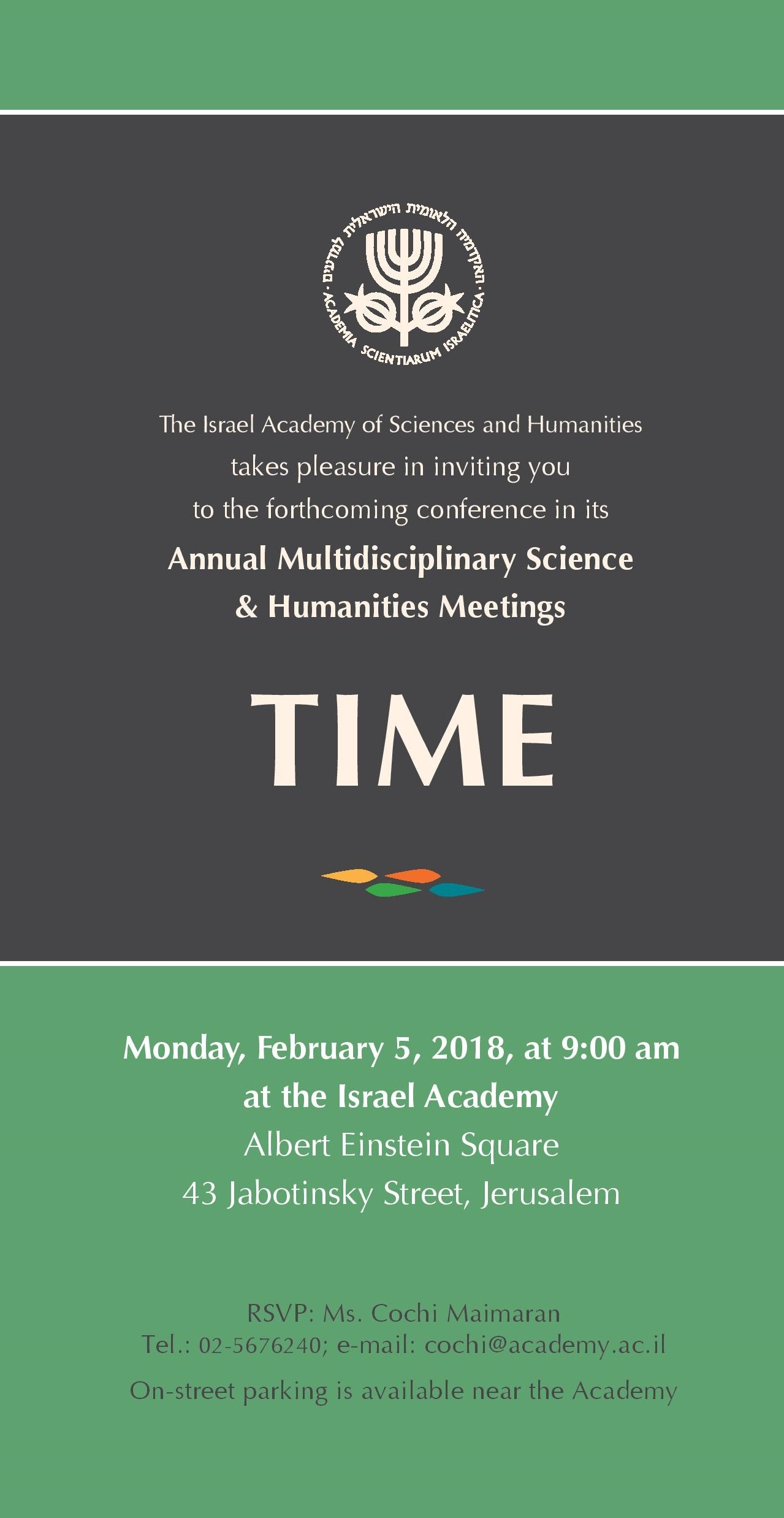Annual Multidisciplinary Science & Humanities Meetings: TIME