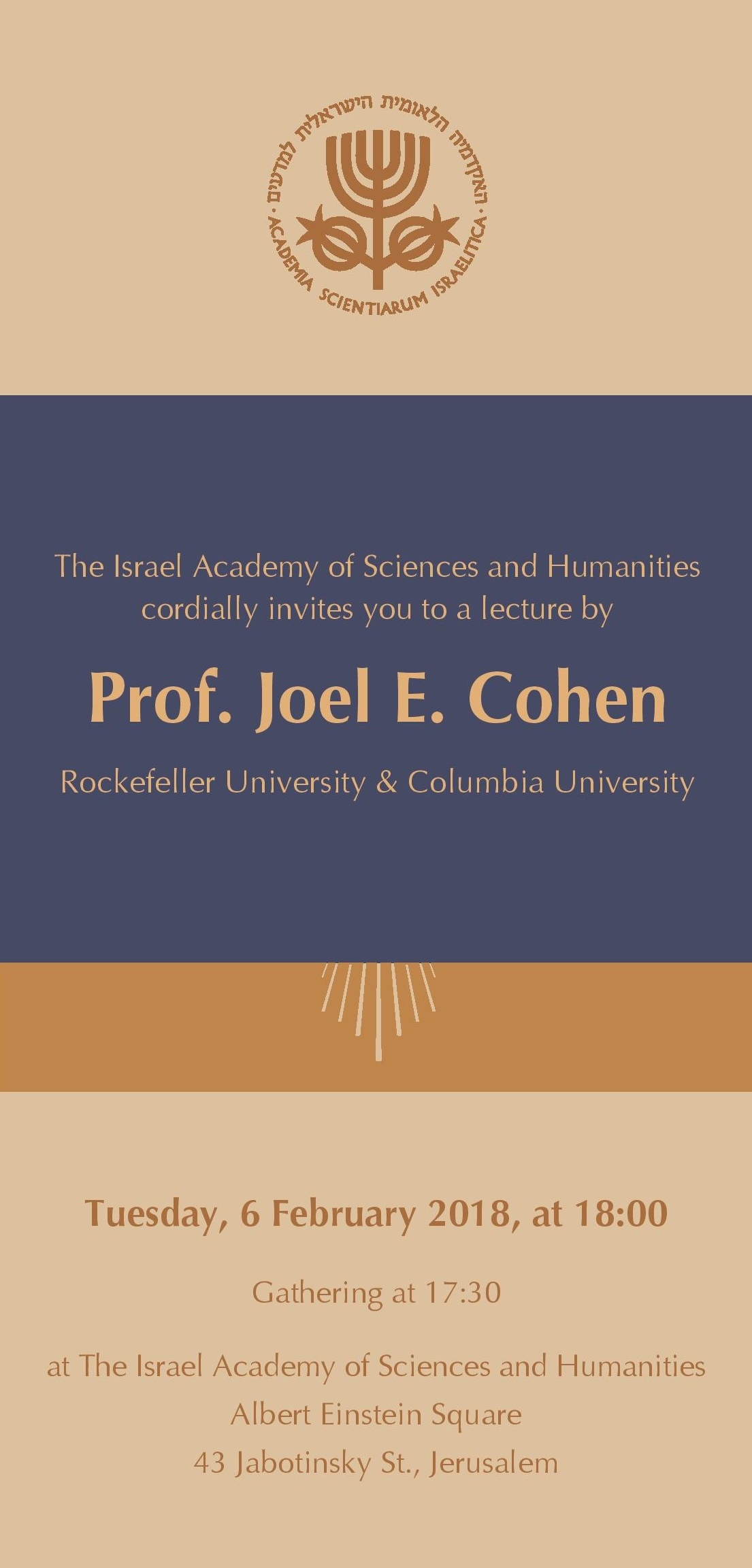 Lecture by Prof. Joel E. Cohen: Life Time - the Meanings and Limits of Age