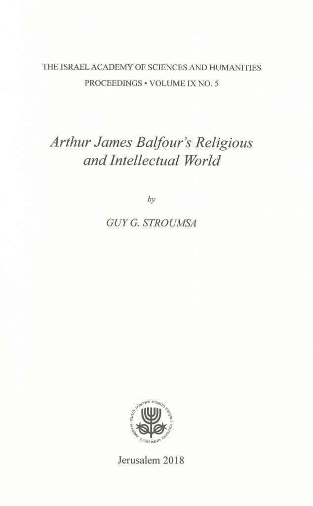 Arthur James Balfour's Religious and Intellectual World